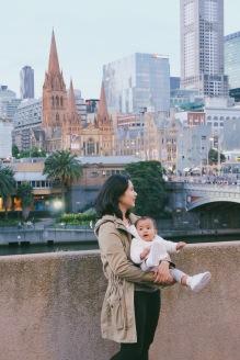 Di depan Yarra River, Melbourne Australia