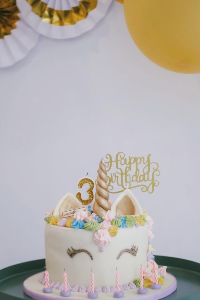 Custom Unicorn Rainbow Cake Dapur Cokelat